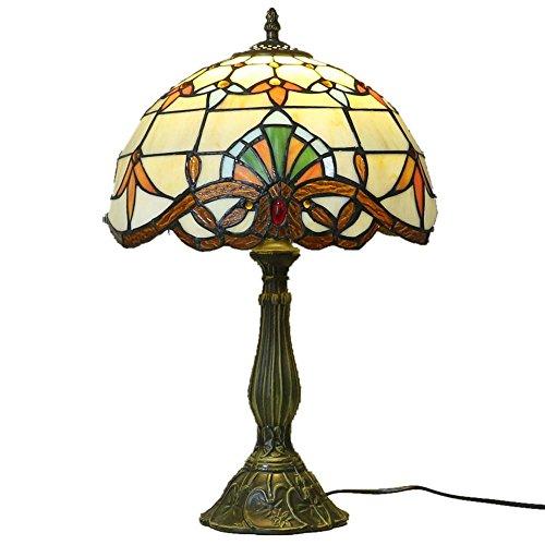 Yool Tiffany Stil Dekorative Muster Lampe Schutz Auge Kreative Lampe Nachttischlampe Schlafzimmer Lampe Schreibtisch Europäischen Stil Studie Wohnzimmer Lampe.