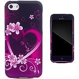 Zooky® rosa TPU Herz Schutzhülle / Hülle / Cover für Apple iPhone 5C