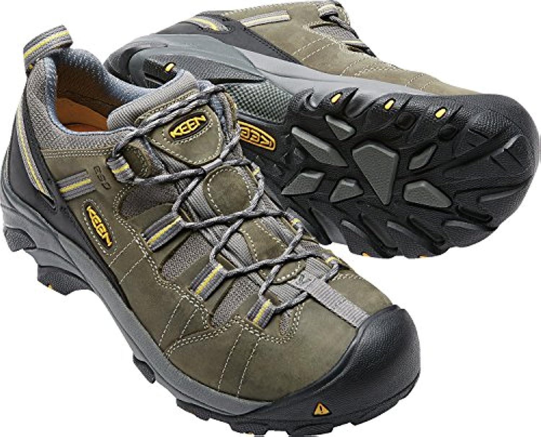 Keen Utility Men's Detroit Low ESD Soft Toe Work Boot Black/Green 7.5 D US