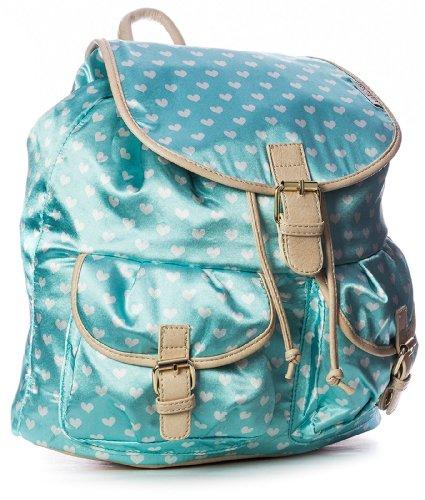Big Handbag Shop grande zaino da donna a forma di cuore con stampa (blu chiaro)