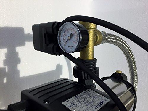 Hauswasserwerk megafixx S5-50ES 1100 Watt 50 Liter Edelstahl Druckkessel - 4