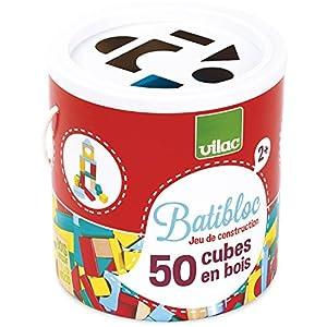 Vilac - Batibloc 50 Cubos de Madera (2146)