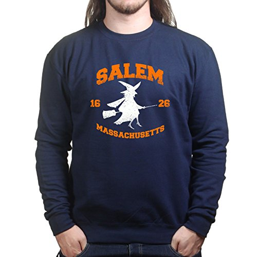 Mens Salem Witch College Halloween Costume Sweatshirt XL Navy (College Ideen Halloween Für)