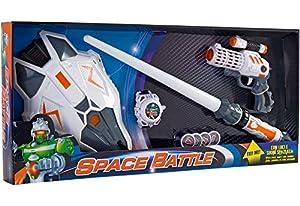 GLOBO- B/O Space Gun/Sword L/S W/Mask Try Me (37480), (1)