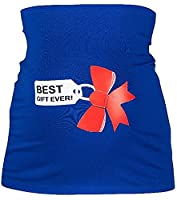 Happy Mama. Women's Maternity Belly Band Gift Bow Ribbon Print. 034p (Royal Blue, UK 8/10, S/M)