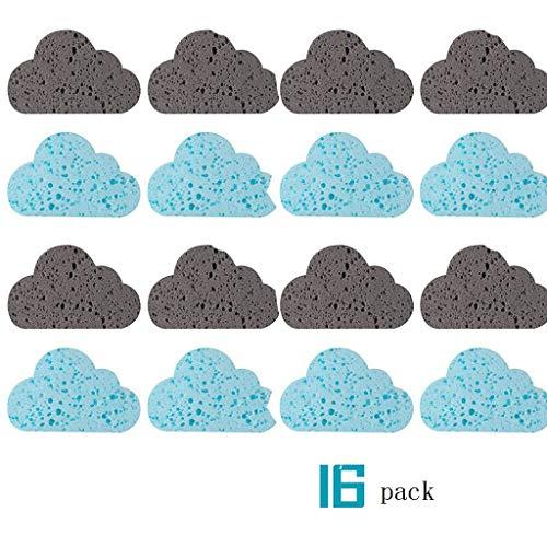 Chengxin Schwämme 16 Stück Cloud-Typ Schwamm Dekontaminationsentfernung Rostschwamm Küchenreinigungsbürste Schüssel Waschbecken Reinigungsschwamm Block einigungszubehör - Cloud-schüssel