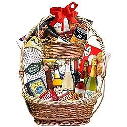 Cesta de navidad Lote gourmet original de productos navideños Cesta de 2 pisos con productos de alta calidad