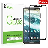 KATIAN [2 Pack] Motorola one power Screen Protector, 2.5D High Definition 0.3MM 9H Hardness Tempered Glass, [Ultra-thin] Protective Film Cover for Motorola one power (Black)