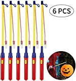 Homealexa Laternenstab mit LED, 6 Pack LED Elektronischer Laternenstock Lampion Stab Latern Sticks...