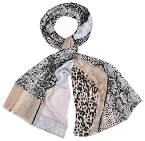 rühling Leo Leoparden Schlangen Muster Animal Beige Schlamm Schwarz Taupe ()