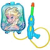 Toyshine Startoys Holi Water Gun with High Pressure, Back Holding Tank, 3.0 L, Disney Frozen, Blue
