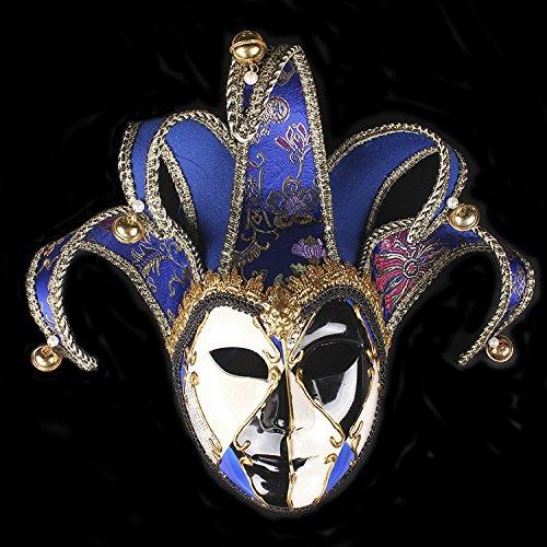 K&C Joker Maske Vintage Venedig Halloween Kostüm Masquerade Masken (Kostüme Jägerin Halloween)