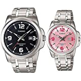 Casio His and Her Couple Analog, Casual Watch - MTP-1314D-1AV/LTP-1314D-5AV