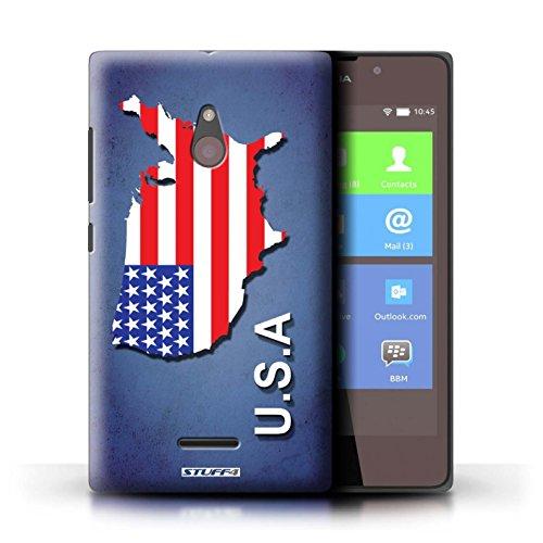 Kobalt® Imprimé Etui / Coque pour Nokia XL / Suède/Suédois conception / Série Drapeau Pays Amérique/Américain/USA