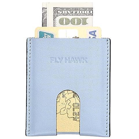 Flyhawk porte carte cuir Mini porte-monnaie Avec carte et