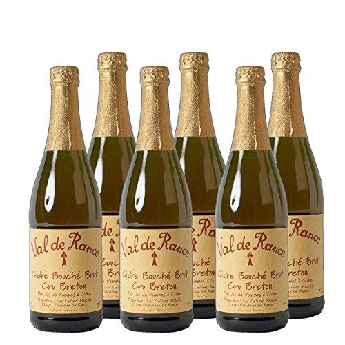 Val de Rance Cidre Apfelwein Bouche Brut Cru Breton Frankreich trocken (6 x 0.75 l)
