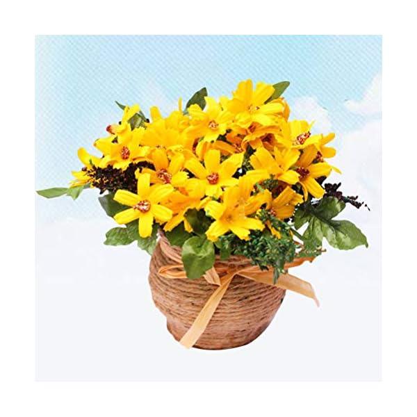 Vosarea Flores de Crisantemo Artificial de Plástico Falsos Girasoles Flor Artificial para Interior Al Aire Libre Decoración de la Oficina en casa