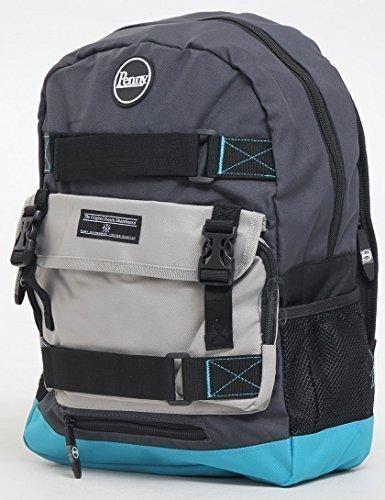 Penny Skateboards Tasche Skate Backpack Rucksack 20L - Schwarz / Blau / Grau (Penny Skateboard Tasche)