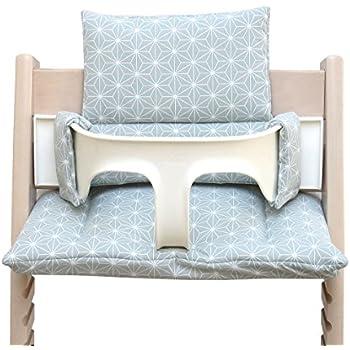 Blausberg Baby *41 couleurs* coussin set de si/ège pour chaise haute Stokke Tripp Trapp tous les mat/ériaux sont certifi/és OEKO-TEX/® Standard 100-100/% made in Hamburg Triangle Jaune