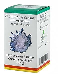 Zeolite Attivata 94,5% 100 Capsule in Gel Vegetale 54g - I Sani Bio - Alta Qualità - Dispositivo Medico