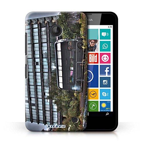 Kobalt® Imprimé Etui / Coque pour Nokia Lumia 630 / Big Ben conception / Série Londres Angleterre Abandonné Bus