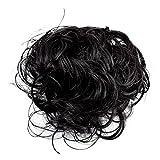 Puregadgets Haarteil, gelockter oder unordentlicher Dutt, verschiedene Farben erhältlich, schwarz