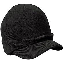 Sombrero Caliente Con Pico De Un Tamaño Unisex Para Hombre Del Invierno Hizo Punto