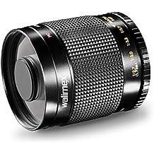 Walimex 12606 - Objetivo para Nikon (distancia focal fija 500mm, apertura f/8) color negro