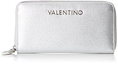 Mario Valentino Valentino by Damen Divina Geldbörse, Silber (Argento), 2.5x10.5x14.5 cm