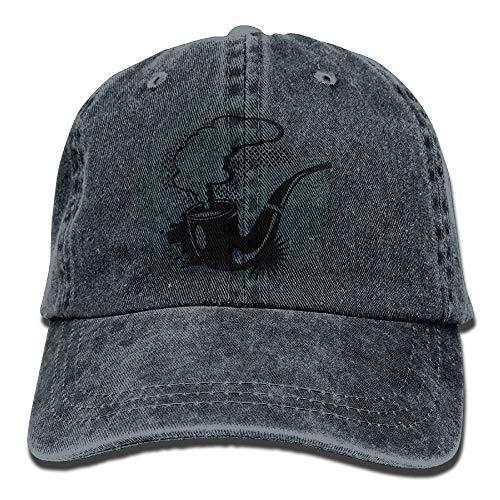 Hoswee Unisex Kappe/Baseballkappe, A Smoking Tobacco Pipe Cowboy Hip-hop Hat Rear Cap Adjustable Cap C5