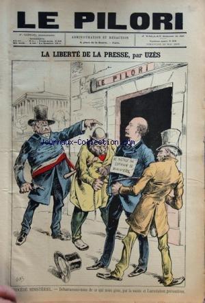 PILORI (LE) [No 319] du 29/05/1892 - LA LIBERTE DE LA PRESSE PAR UZES