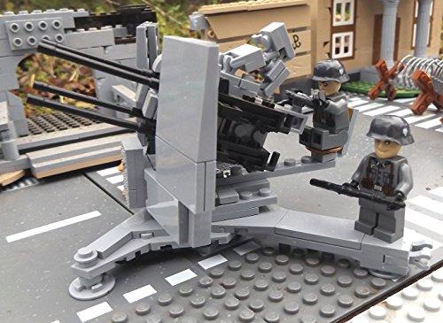 Modbrix 2367- ☠ Deutsche Achtacht Flak Stellung inkl. Custom Elite Wehrmacht Soldaten aus Lego© Teilen ☠ - 2