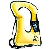 rrtizan Unisex-Erwachsene tragbar aufblasbar Schnorchel Weste für Tauchen Sicher, gelb