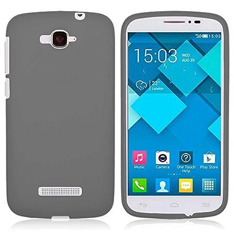 TBOC® Schwarz Gel TPU Hülle für Alcatel One Touch Pop C7 Ultradünn Flexibel Silikonhülle