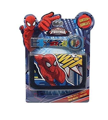 montre enfant digitale spiderman marvel plus portefeuille