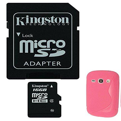 Bundle 16GB Kingston Micro SD con adattatore scheda di memoria originale per Samsung Galaxy Fame S6810