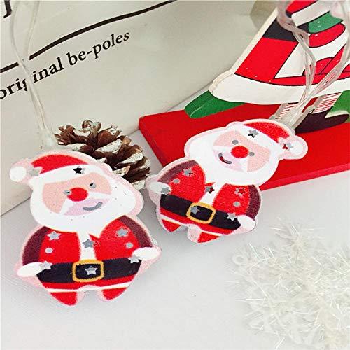 Weihnachten LED Lichterkette Weihnachtsmann Laterne,für Zimmer, Innen, Kinderzimmer, Außen, Party, DIY usw.