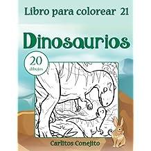 Libro para colorear Dinosaurios: 20 dibujos: Volume 21