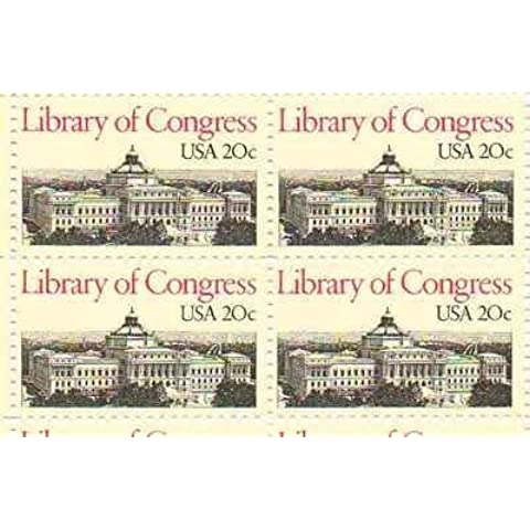 Library of Congress Set of 4 x 20 Cent US Postage Stamps NEW Scot 2004 by USPS