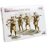 CI 35562 - 1/35 soldados de la Segunda Guerra Mundial, Grecia Evzones 4 Figuras