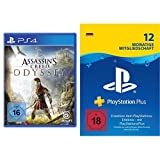 Assassin's Creed Odyssey - Standard Edition - [PlayStation 4] + PlayStation Plus 12 Monate Bundle