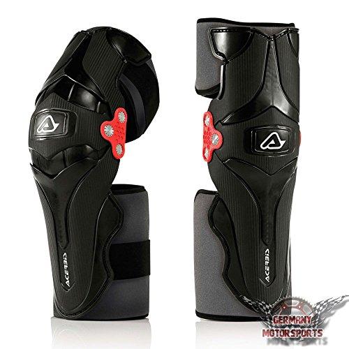 Motocross Rodillera Rodillera Rodillera Protector Acerbis X Strong negro Cross Enduro Quad