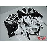 VITCIK (Kit de Carenado para Honda CBR600RR F5 2009 2010 2011 2012 CBR 600RR F5 09 10 11 12) Accesorios de repuesto para bastidor y carrocería con completo para motocicleta y moldeo por inyección en ABS(Blanco & Negro) A009