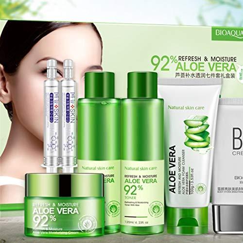 BIOAQUA Natural Aloe Vera Smooth Gel Akne-Gesichtscreme für die feuchtigkeitsspendende Reparatur nach dem Sonnenbad NO.BQY9797 -