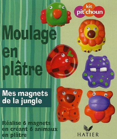 Moulage en plâtre : Mes magnets de la jungle