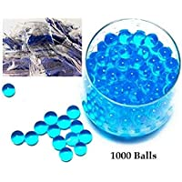 HALO NATION Water Crystal Ball Bullets , Water Jelly Balls for Toy Guns , Soft Crystal Bullet , Crystal Soil Water Beads ,Aquarium Water Balls for Decoration (1000 Water Balls)