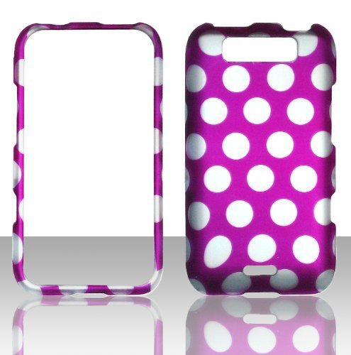 2D Pink PolkaDots LG Connect MS840 Metro PCS Fall Hard Handy Snap auf Cover Fall Displayschutzfolie