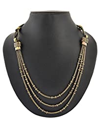 Archiecs Creations Gold Plated Multi-Strand Necklace For Women (Handi_177)