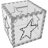 Preisvergleich für Azeeda 'Genähter Stern' Klar Sparbüchse / Spardose (MB00061643)