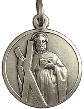 Medaille des Heiligen Apostels Andreas - 925 Sterling Silber